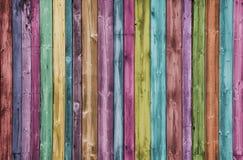Fondo de madera multicolor creativo foto de archivo