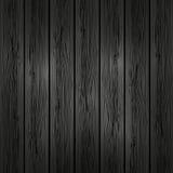 Fondo de madera negro stock de ilustración