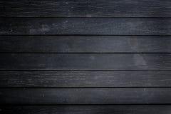 Fondo de madera negro de la textura Fotos de archivo