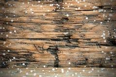 Fondo de madera Nevado foto de archivo libre de regalías