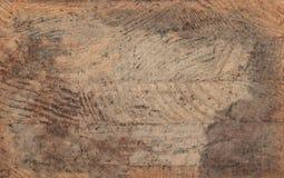 Fondo de madera oscuro de la textura del roble con el viejo modelo natural Foto de archivo libre de regalías