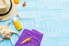 fondo de madera para el concepto de las vacaciones de verano y de las vacaciones Imagenes de archivo