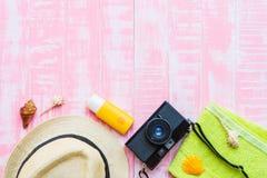 fondo de madera para el concepto de las vacaciones de verano y de las vacaciones Imagen de archivo