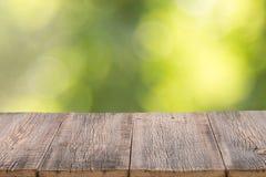 Fondo de madera para los productos Fotos de archivo