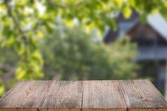 Fondo de madera para los productos Foto de archivo