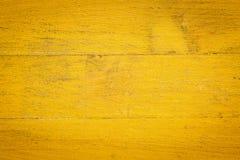 Fondo de madera pintado amarillo Foto de archivo libre de regalías