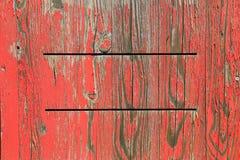 Fondo de madera pintado con color rojo exfoliated Fotografía de archivo