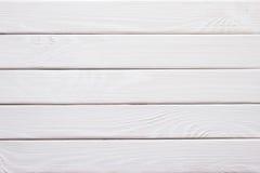 Fondo de madera rústico blanco de la textura de la pared, boa blanca de madera de la plataforma Imagen de archivo