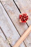 Fondo de madera rústico del Año Nuevo y de la Navidad Fotografía de archivo