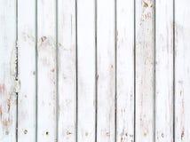 Fondo de madera resistido viejo blanco fotografía de archivo libre de regalías
