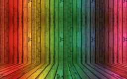 Fondo de madera sucio decorativo colorido Fotos de archivo libres de regalías