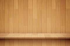 Fondo de madera vacío del estante stock de ilustración