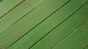 Fondo de madera verde de los tablones Foto de archivo libre de regalías
