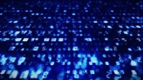 Fondo de muchos n?meros Concepto de los datos del n?mero del negocio de las finanzas Animaci?n del lazo del negocio CG libre illustration