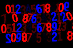 Fondo de números a partir la cero a nueve Fondo con números Textura de los números Fotos de archivo libres de regalías
