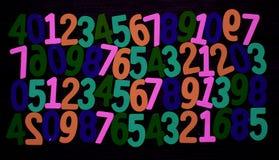 Fondo de números a partir la cero a nueve Fondo con números Textura de los números Imagenes de archivo