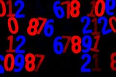 Fondo de números a partir la cero a nueve Fondo con números Textura de los números Foto de archivo libre de regalías