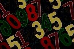 Fondo de números a partir la cero a nueve Fondo con números Textura de los números Imagen de archivo libre de regalías