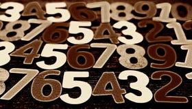 Fondo de números a partir la cero a nueve Fondo con números Textura de los números Fotos de archivo