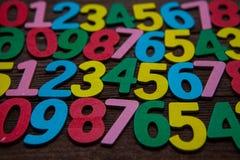 Fondo de números a partir la cero a nueve Fondo con números Textura de los números Foto de archivo