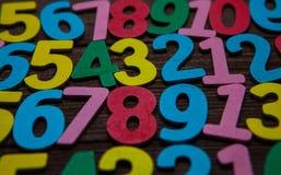 Fondo de números a partir la cero a nueve Fondo con números Textura de los números Imágenes de archivo libres de regalías