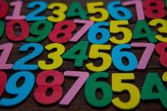 Fondo de números a partir la cero a nueve Fondo con números Textura de los números Fotografía de archivo libre de regalías