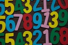 Fondo de números a partir la cero a nueve Fondo con números Textura de los números Fotografía de archivo