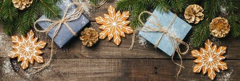 Fondo de Navidad con el espacio para el texto Foto de archivo