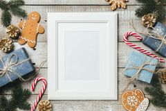 Fondo de Navidad con el espacio para el texto Fotos de archivo
