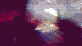 Fondo de neón coloreado de la animación de los datos de error de la ciencia ficción metrajes