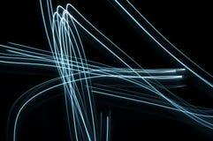 Fondo de neón de las fibras Fotografía de archivo