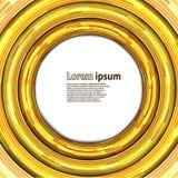 Fondo de neón del extracto del círculo del oro Imagen de archivo
