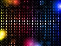 Fondo de neón del partido del arco iris colorido ilustración del vector