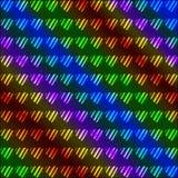 Fondo de neón multicolor de los corazones Imagenes de archivo