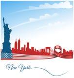 Fondo de New York City stock de ilustración
