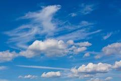 Fondo de nubes Fotografía de archivo