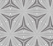 Fondo de Op. Sys. blanco y negro de Art Design Vector Seamless Pattern Imágenes de archivo libres de regalías