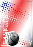 Fondo de oro 2 del cartel del baloncesto Imagenes de archivo