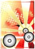 Fondo de oro 3 del cartel de DJ Fotos de archivo libres de regalías