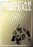 Fondo de oro 3 del cartel del fútbol americano Fotos de archivo libres de regalías