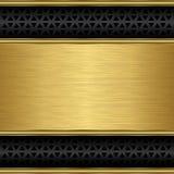 Fondo de oro abstracto con la parrilla del altavoz Fotos de archivo libres de regalías