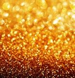 Fondo de oro abstracto de la Navidad Fotografía de archivo libre de regalías
