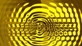 Fondo de oro abstracto del movimiento de las ondulaciones almacen de video