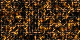 Fondo de oro brillante digital abstracto stock de ilustración