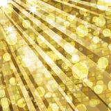 Luces del disco y fondo de oro del mosaico Foto de archivo libre de regalías