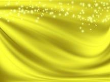 Fondo de oro con las ondas Foto de archivo