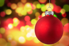 Fondo de oro de la escena de la luz de la Navidad Foto de archivo libre de regalías