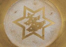 Fondo de oro de la estrella Imágenes de archivo libres de regalías