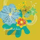 Fondo de oro de la flor Foto de archivo libre de regalías