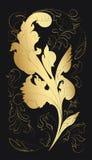 Fondo de oro de la hoja del Acanthus Fotografía de archivo